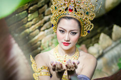 Thai women in national costume Royalty Free Stock Photography