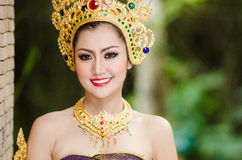 Thai women in national costume Stock Photo