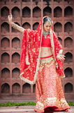 Thai women perform dances of India in historical costumes Royalty Free Stock Photo