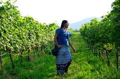 Thai women portrait in Grape garden Royalty Free Stock Image