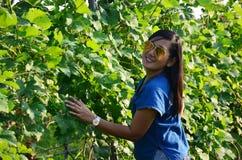 Thai women portrait in Grape garden Royalty Free Stock Images