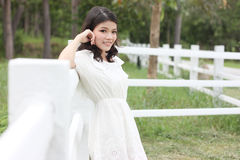 Thai women portrait outdoor Stock Photography