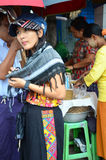 Thai women portrait at rangoon market Stock Photography
