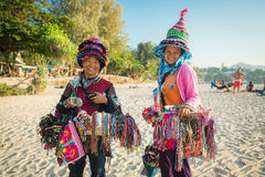 Thai women selling souvenirs at beach in Phuket Royalty Free Stock Image
