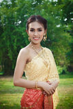Thai women in tradition costume of Thailand. Thai woman in tradition costume Stock Photos