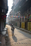 Thai women walking at morning time in Patan Durbar Square Stock Photos