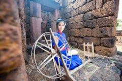 Thai women wearing traditional dress Stock Photography