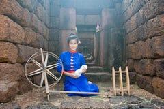 Thai women wearing traditional dress Stock Photos