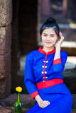 Thai women wearing traditional dress Stock Images