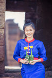 Thai women wearing traditional dress Royalty Free Stock Images