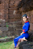 Thai women wearing traditional dress Stock Photography