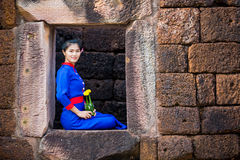 Thai women wearing traditional dress Royalty Free Stock Photography