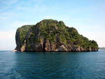 Thai Wonder. A small island near PhiPhi Lei and PhiPhi Don islands, Thailand Royalty Free Stock Photo