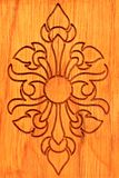 Thai wood carve Royalty Free Stock Photos