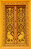 Thai wood carving Royalty Free Stock Photo