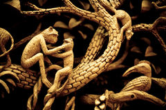Free Thai Wood Carving Stock Photo - 40421980