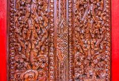 Thai wood carving art Stock Photo