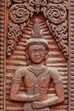 Thai  wood  carving art Royalty Free Stock Images