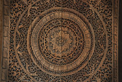 Thai wood handicraft Royalty Free Stock Photography