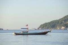 Thai wooden boat in koh tao most popular traveling destination s Royalty Free Stock Photos
