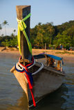 Thai wooden boat with motor Royalty Free Stock Photography