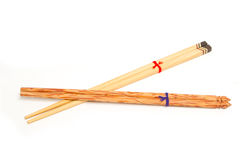 Thai wooden chopsticks Royalty Free Stock Images