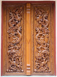 Thai wooden craft panel. Stock Photo