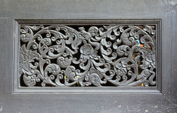 Thai wooden craft panel. Royalty Free Stock Photos