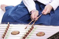Thai wooden dulcimer Stock Photos