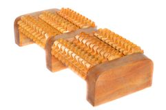 Thai wooden foot massager Royalty Free Stock Image