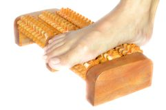 Thai wooden foot massager Royalty Free Stock Photography