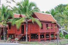 Thai wooden house, Thailand. Stock Photos
