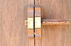 Thai wooden lock Stock Photo