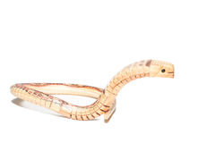 Thai wooden snake Royalty Free Stock Images