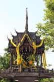 Thai wooden spirit house Stock Photography