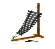 Thai wooden style xylophone Stock Image