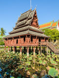 Thai wooden temple, Thailand Royalty Free Stock Photos