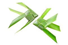 Thai woven coconut leaves fish Stock Images
