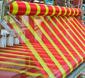 Thai woven silk machine Stock Photos