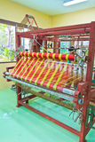 Thai woven silk machine Stock Images