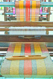 Thai woven silk machine Stock Photo