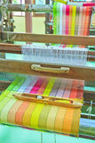 Thai woven silk machine Royalty Free Stock Image