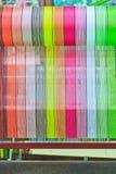 Thai woven silk machine Stock Image