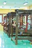 Thai woven silk machine Stock Photos