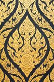 Thai writing patterns. Art, culture, writing mural Royalty Free Stock Images