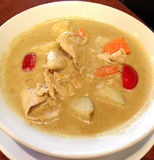 Thai yellow Chicken curry in coconut milk Royalty Free Stock Photography