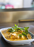 Thai Yellow Curry and Chicken. Dish royalty free stock image