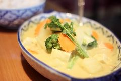 Thai yellow curry soup Royalty Free Stock Photo