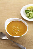 Thai yellow curry and vegetable Stock Image