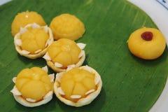 Thai yellow sweetmeat Stock Image